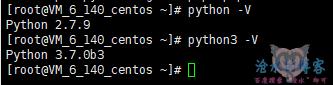 Centos系统一键升级python到2.7.9与3.7脚本